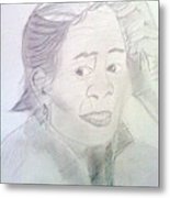 China Elderly Woman Metal Print