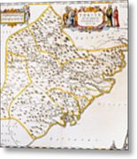 China: Fujian Map, 1662 Metal Print