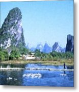 China, Guangxi Province, Guilin Metal Print