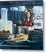 China Kitchen Metal Print