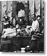 China: Opium Smokers Metal Print