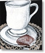 China Tea Cup Metal Print