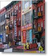 China Town Buildings Metal Print