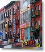 China Town Buildings Metal Print
