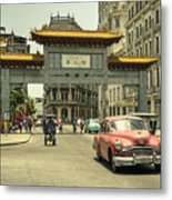 Chinatown Chevy  Metal Print