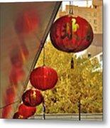 Chinatown - Chinese Lanterns Metal Print