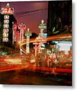 Chinatown In Bangkok Metal Print