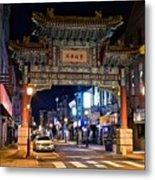 Chinatown In Philadelphia Metal Print