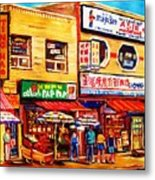 Chinatown Markets Metal Print