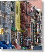 Chinatown Walk Ups Metal Print