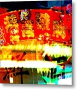 Chinatown Window Reflection 4 Metal Print by Marianne Dow