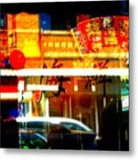 Chinatown Window Reflections 2 Metal Print by Marianne Dow