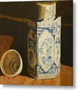 Chinese Bottle And Cup Metal Print