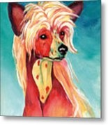 Chinese Crested Sunset Metal Print