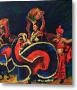 Chinese Dancers Metal Print