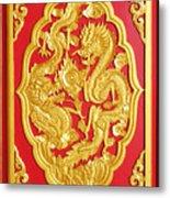 Chinese Design Metal Print by Somchai Suppalertporn