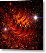 Chinese Dragon Galaxy Metal Print