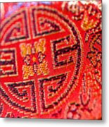 Chinese Embroidery Metal Print