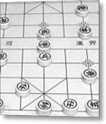 Chinese Game Board Metal Print