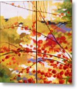 Chinese Garden Grace Metal Print