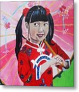 Chinese Girl Metal Print