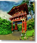Chinese House Metal Print