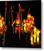 Chinese Lantern Festival British Columbia Canada 9 Metal Print