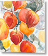 Chinese Lanterns - Symbol Of Friendship Metal Print