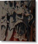 Chinese Masks Metal Print