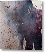 Chinese New Year Action Metal Print