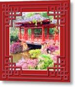 Chinese Pavilion Rhododendron Gardens Burnie Tasmania Metal Print