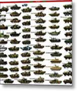 Chinese Pla Tanks Metal Print