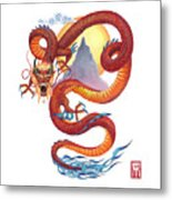 Chinese Red Dragon Metal Print