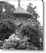 Chinese Rock Garden Metal Print