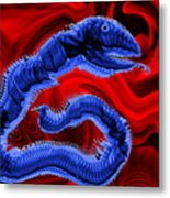 Chinese Serpent Rising Metal Print