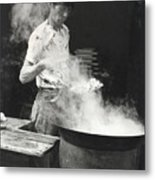 Chinese Steam Metal Print