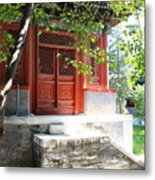 Chinese Temple Garden Metal Print
