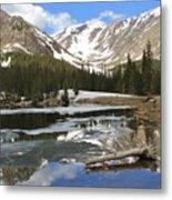 Chinns Lake Reflections 3 Metal Print