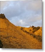 Chino Hills And Clouds Metal Print