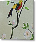 Chinoiserie - Magnolias And Birds #1 Metal Print