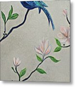 Chinoiserie - Magnolias And Birds #4 Metal Print