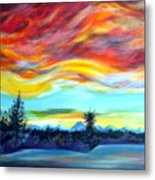 Chinook Arch Over Bow River Metal Print