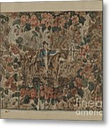 Chintz Square Metal Print