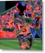 Chipper Jones Metal Print by Rod Kaye