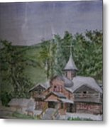 Chirch Near Gorno-altaisk  Metal Print
