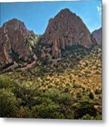 Chisos Mountain Range Metal Print