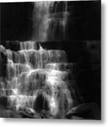 Chittenango Falls Bw Metal Print