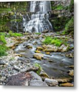 Chittenango Falls In Autumn  Metal Print