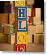 Chloe - Alphabet Blocks Metal Print