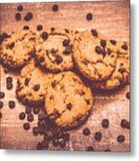 Choc Chip Biscuits Metal Print
